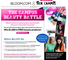 Enter the Bloom.com Campus Beauty Battle !! #bloom #socialbeauty