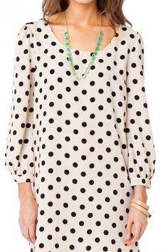 Dorine Polka Dot Shift Dress
