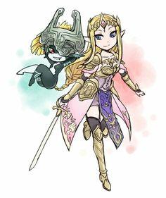 Hyrule Warriors Princess Zelda and Imp Midna