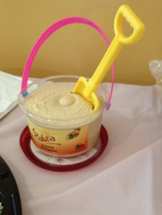 Hummus Dip For Beach Themed Baby Shower