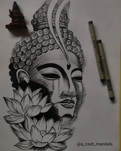 Pencil Drawings For Beginners, Art Drawings Sketches Simple, Buddha Drawing, Buddha Art, Arlo Tattoo, Buddha Tattoo Design, Buddha Tattoos, Ganesha Art, Ganesha Tattoo