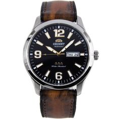 Orient Mens Watch with Hybrid Strap Gents Watches, Stylish Watches, Casual Watches, Luxury Watches, Cool Watches, Watches For Men, Orient Watch, Authentic Watches, Swiss Army Watches