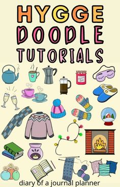 The best Hygge-themed doodles for cozy winter bullet journal pages! #doodles #hygge Easy Doodles Drawings, Cool Doodles, Easy Doodle Art, Simple Doodles, Doodle For Beginners, Coffee Doodle, Bujo Doodles, Bullet Journal Printables, Doodle Art Journals