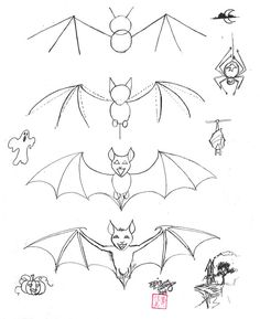 How to Draw a Bat by *Diana-Huang on deviantART