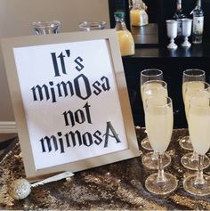 Mimosa Bar – Harry Potter bridal shower, – Famous Last Words Harry Potter Marathon, Harry Potter Baby Shower, Harry Potter Decor, Harry Potter Birthday, Harry Potter Costumes, Harry Potter Wedding Gifts, Harry Potter Desserts, Harry Potter Christmas Decorations, Harry Potter Halloween Party