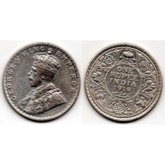 1918 India británica 1 rupee George V India, Coins, Personalized Items, Door Bells, Stamps, Goa India, Rooms, Indie, Indian