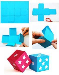 fabriquer un cube en papier