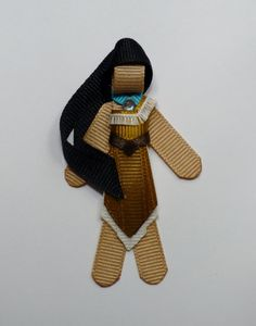 Pocahontas Hairclip Ribbon Sculpture by TakeABowHandcrafts on Etsy, $8.50