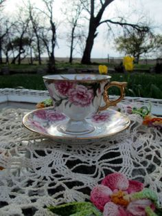 Vintage Teacup Tea Cup and Saucer Lusterware by Holliezhobbiez, $12.95