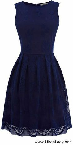 Little navy dress.this will look great with white shoes and a white belt