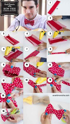 DIY Bow Ties / Corbata de Moño. Valentine's Day / Father's Day