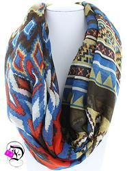 Aztec Print Infinity Scarf $12.99 Divalicious Cooling Scarf, Color Combinations, Plaid Scarf, Aztec, Infinity, Scarves, Boutique, Pattern, Moon