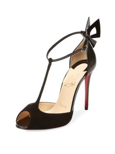 CHRISTIAN LOUBOUTIN LEATHER WING PUMP. #christianlouboutin #shoes #