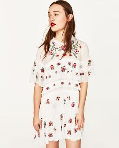 Image 2 of EMBROIDERED MINI DRESS from Zara