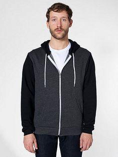 American Apparel - Flex Fleece Two-Tone Zip Hoodie