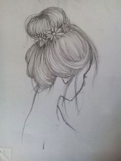 Fantasting Drawing Hairstyles For Characters Ideas. Amazing Drawing Hairstyles For Characters Ideas. Girl Drawing Sketches, Sketchbook Drawings, Cool Art Drawings, Pencil Art Drawings, Sketch Art, Easy Drawings, Drawing Drawing, Drawing Ideas, Pencil Drawing Tutorials