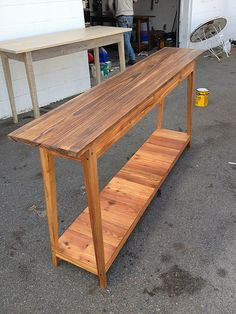 Reclaimed wood custom furniture by Landrum Tables in Charleston SC http://www.landrumtables.com