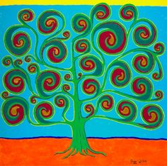 Tree Of Life  12 x 12 Giclee Fine Art Print          Archival Paper and ink