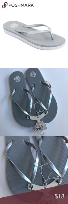 b9e4e4b22 SO Women s Flip-Flops Grey New NWT