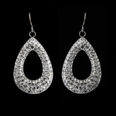 Steel by Design Stainless Steel Clear Crystal Teardrop Dangle Earrings U899 #SteelbyDesign #DropDangle
