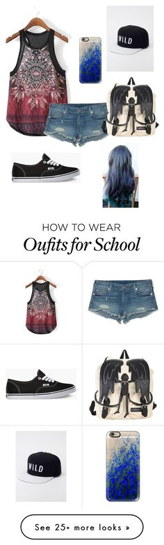 """""""I saw a rat in my school"""" by panda-stilinski-24-lol on Polyvore featuring True Religion, Vans, Casetify and Kill Brand"""