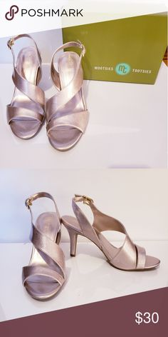 c6471715a19 Mootsie Tootsie Formal  Prom Shoes heels NWT lovely Comfortable rose gold  formal shoes for
