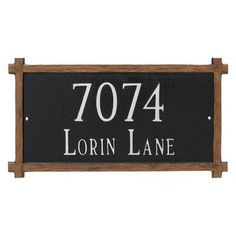 Montague Metal Products Two Line Mission Oak Address Sign Plaque Finish: Sand/Gold