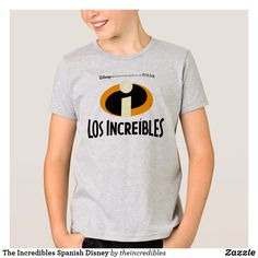 The Incredibles Spanish Disney T-Shirt. Super awesome Disney's The Incredibles superhero designs to personalize as a gift for yourself or friends and family. Wonderful gift ideas for superhero birthdays. French Logo, Incredibles Logo, Superhero Design, Personalized Products, Disney Family, Colorful Shirts, Fitness Models, Spanish, Logos
