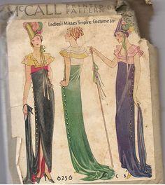 McCall 6256 Ladies Empire Costume