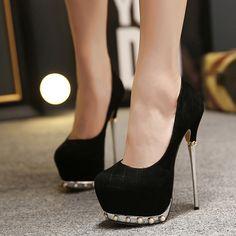 New Fashion Chic Womens Euro Style Pearl Platform High Heels Pump Dress  Shoes Sz a72d42c4306e