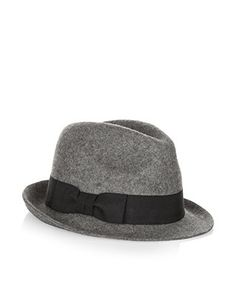 Give your outfit a touch of vintage appeal with this felted trilby hat, finished with a grosgrain ribbon trim.