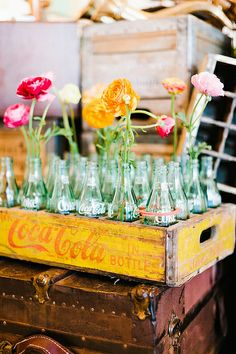 coke bottle vases