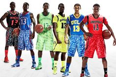 Six teams will wear special uniforms for their conference and anticipated NCAA tournament appearances next month, setting a fashion trend in college basketball: camouflage-patterned shorts, bright-colored jerseys and sleeves.    How do you feel about these uniforms?