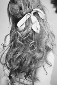 ribbon in hair..