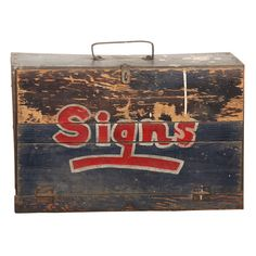 Sign Painter's Brush Box |