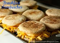 Healthy Make ahead breakfast sandwiches -- Not a bad idea to make a bunch of breakfasts ahead of time.