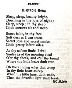 William Blake, A Cradle Song. Reference: The Golden Treasure, Penguin Popular Classics. Editor, Francis Turner Palgrave, 1994.