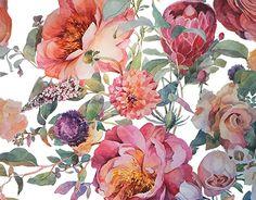 """다음 @Behance 프로젝트 확인: """"Floral textile"""" https://www.behance.net/gallery/29442817/Floral-textile"""