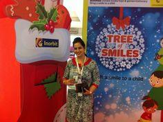 Ms Pooja's smile lit up our tree! #InorbitMakesMeSmile