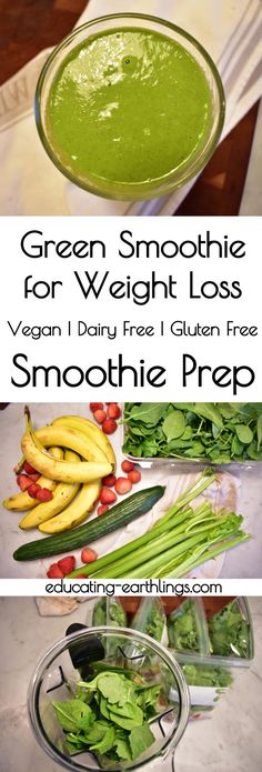 Green Smoothie for Weight Loss Green Smoothie Smoothie Prep Weekly Smoothie Prep Bags Click the image for more info. Smoothie Prep, Green Detox Smoothie, Green Smoothie Recipes, Juice Recipes, Smoothie Cleanse, Cacao Smoothie, Matcha Smoothie, Coctails Recipes, Juice Cleanse