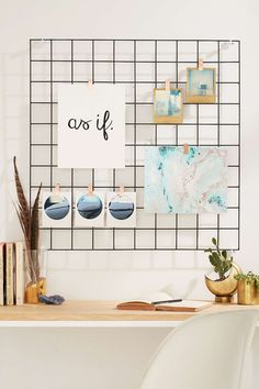"A wire wall grid is perfect for storage and organisation. If you're into DIY you could easily make your own to match these [fun and functional DIY wire baskets](http://www.homestolove.com.au/weekend-project-diy-wire-baskets-2954|target=""_blank""). [Wire Wall Grid](http://www.urbanoutfitters.com/urban/catalog/productdetail.jsp?id=36310332&category=A_DECORATE_STORAGE