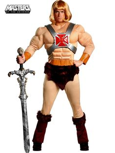 Classic He-Man Muscle Costume | Mens Masters of the Universe Costumes