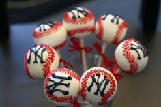 Yankees cake pops