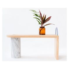 Everything about this table by nicetobenice studio is pretty perfect. via sightunseen- table, design