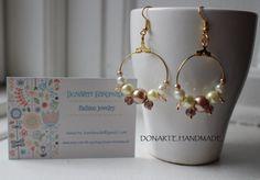 Shining golden hoop earrings by DonarteHandmade on Etsy