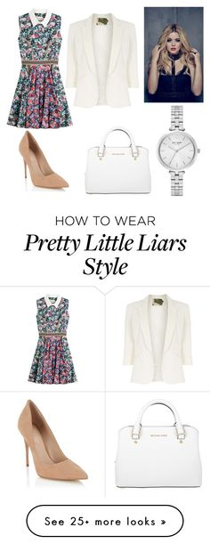 """""""Pretty Little Liars: Alison"""" by mae-emma on Polyvore featuring Mary Katrantzou, Jolie Moi, Lipsy, Michael Kors and Kate Spade"""