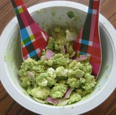 Avocado Summer Salad -  Extra Virgin Olive Oil Avocados Feta Red Onion Tomato  Salt Pepper (not pictured)