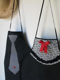 His and Hers Aprons | his n hers aprons, cute!