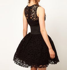 Ladylike Scoop Collar Openwork Lace Sleeveless Waisted Slimming Women's Ball Gown DressLace Dresses | RoseGal.com