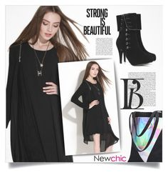 """""""NewChic Style #52"""" by tawnee-tnt ❤ liked on Polyvore featuring plus size dresses"""